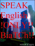 SPEAK ENGLISH ONLY BIATCHES!!