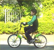 自転車練習法、感動初乗り!
