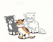 可愛い動物の絵を描く
