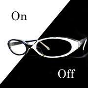 部分メガネ。