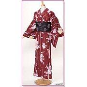 ポリエステル着物と半巾帯。