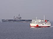 東京湾フェリーで空母を撮る会