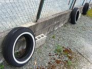 ホワイトリボン 廃タイヤ