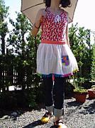 ナチュラルポップな手作り子供服