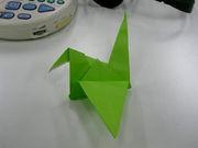 折り鶴なら折れないよ