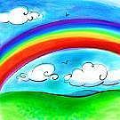 山形と関西にかかる虹