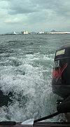 平日に琵琶湖でバス釣り バンブ