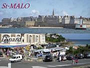 St-MALO , DINARD 岸辺の会