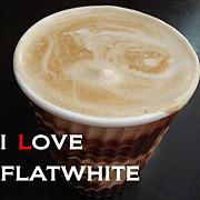 I LOVE★フラットホワイト