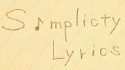 ♪simplicity lyrics♪