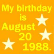 1988年8月20日生まれ☆