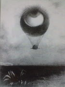 眼は奇妙な気球のように無限に