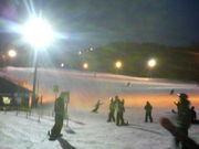 深夜もスノーボーダー