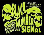 BLACK NUMBER SIGNAL