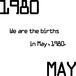 1980年5月生まれ。