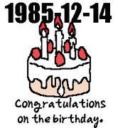 1985年12月14日生まれ