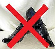 男のとがった革靴嫌い
