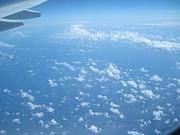 飛行機から見える空と海が好き