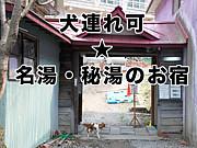 犬連れ可★名湯・秘湯・温泉の宿