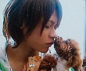 上田竜也と犬(・ω・`)
