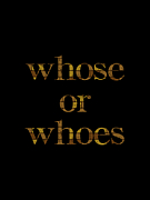whose or whoes