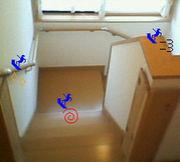階段でイメトレ♪