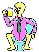 酒を呑んだ次の日は下痢。