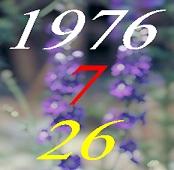 1976年7月26日生まれ