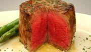 肉はレアで
