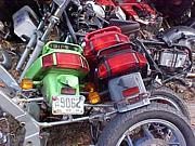 解体屋のバイク