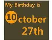 10月27日生まれ