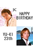 ★HAPPY BIRTHDAY to YU-KI★
