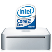 Mac mini に Intel Core 2 Duo