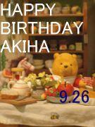 あきはHAPPY BIRTHDAY!!!!