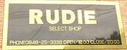 RUDIE select shop