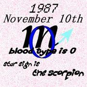 1987年11月10日さそり座0型