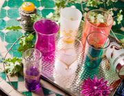 Moroccan mint tea glass
