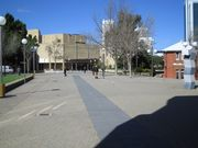 in front of library Perth