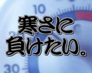 寒さに負けたい。