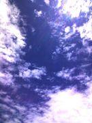 空を雲を眺める