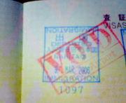 """パスポートに""""VOID""""がある人"""