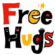 Tシャツで FREE HUGS