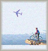飛行機でも自転車