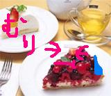 ×ケーキにフルーツいれんな×