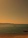 冬の真夜中に海で見る星空