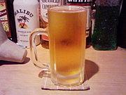 ビールは泡無し