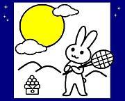 お月見テニス(平日夜ナイター)