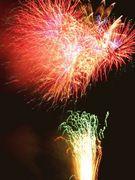 目の前で花火in江戸川