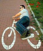 自転車で熱唱!!