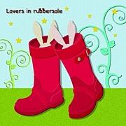 Lovers in rubbersole